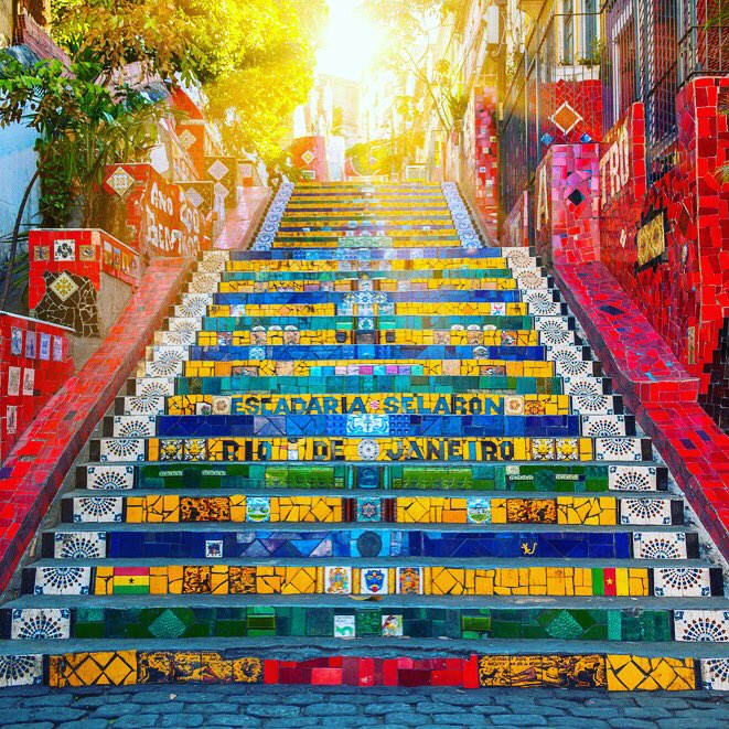 Olympics Twitterissa The Colorful Selaron Steps In Rio De