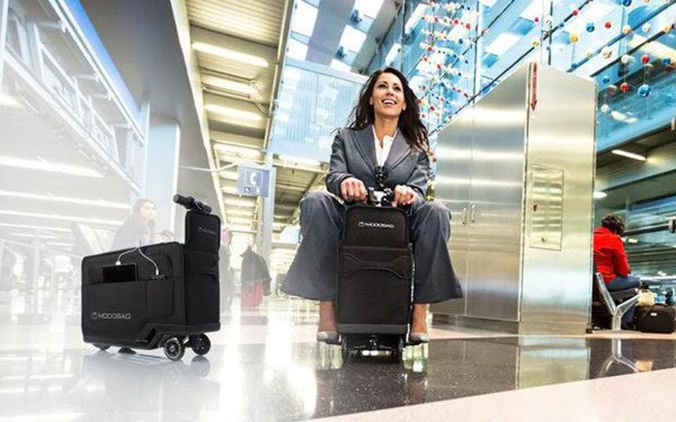 Ride-on luggage is here -- and @Chris_Muther thinks it's a bad idea