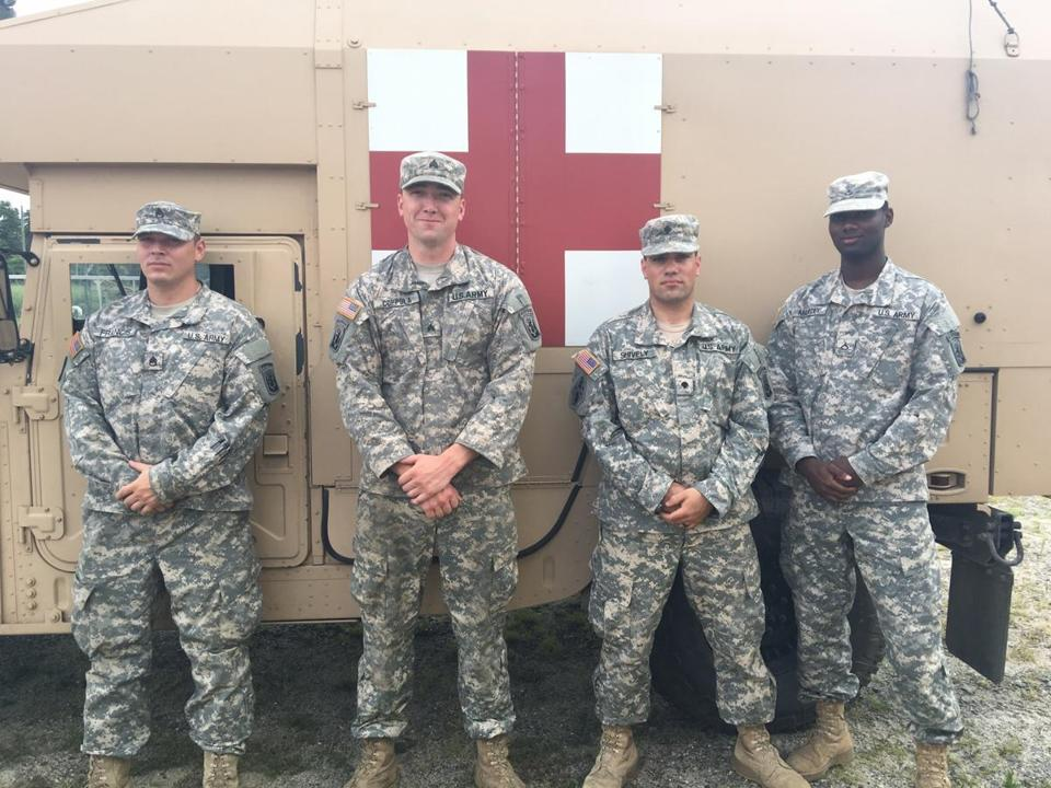Massachusetts soldiers rescue an 87-year-old woman in the New Jersey woods
