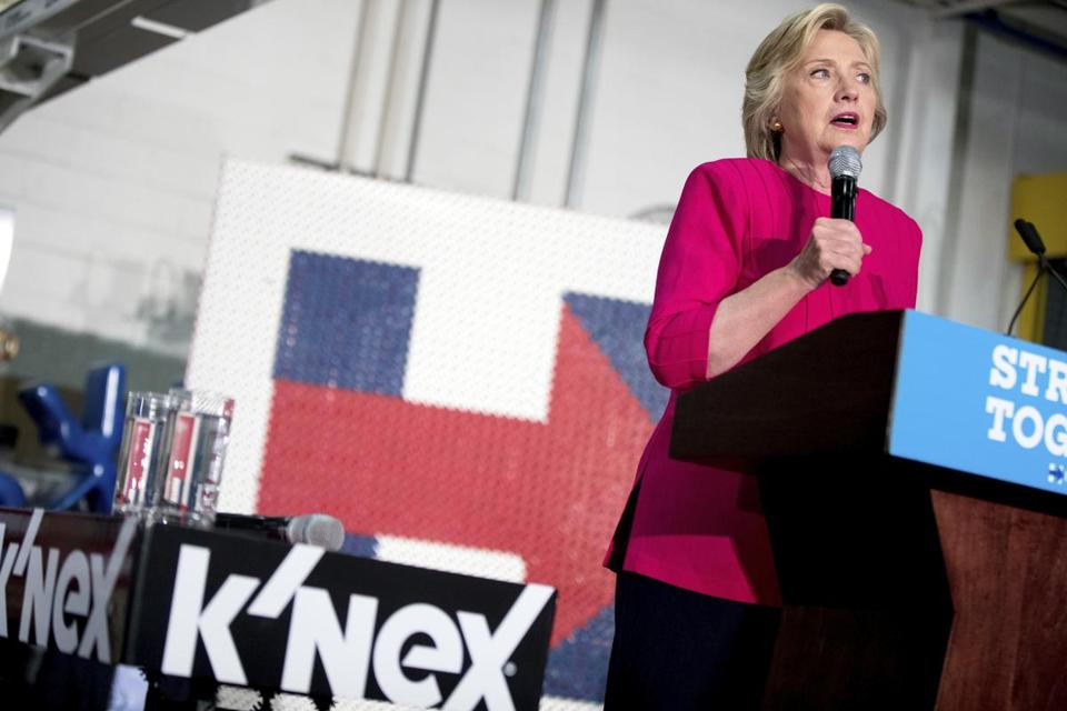 Hillary Clinton keeps up the anti-Trump push