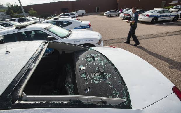 Tennis-ball-sized hail knocks out 27 ColoradoSprings police cars