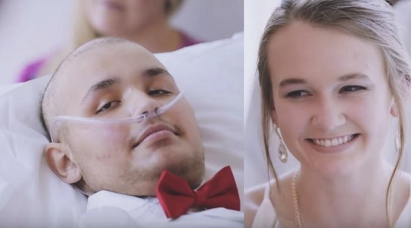 Teen battling cancer marries sweetheart in hospital ceremony, days after waking from coma