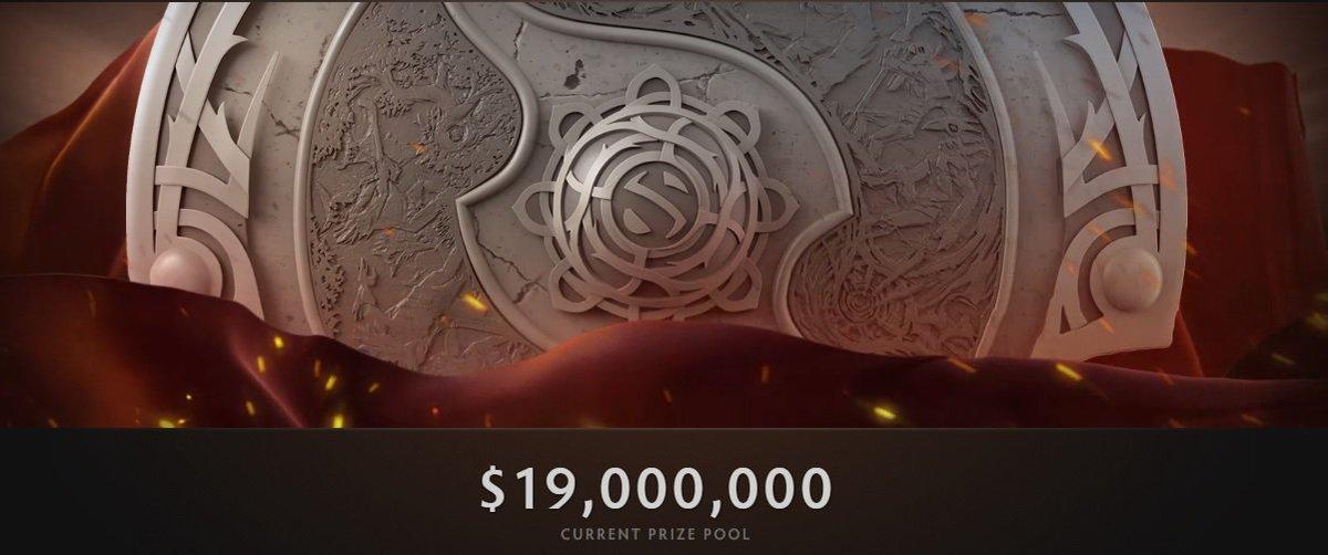 19 Million Dollars and still rising!  #Dota2 #TI6 #eSports #Gaming https://t.co/GE6ehPtPNB