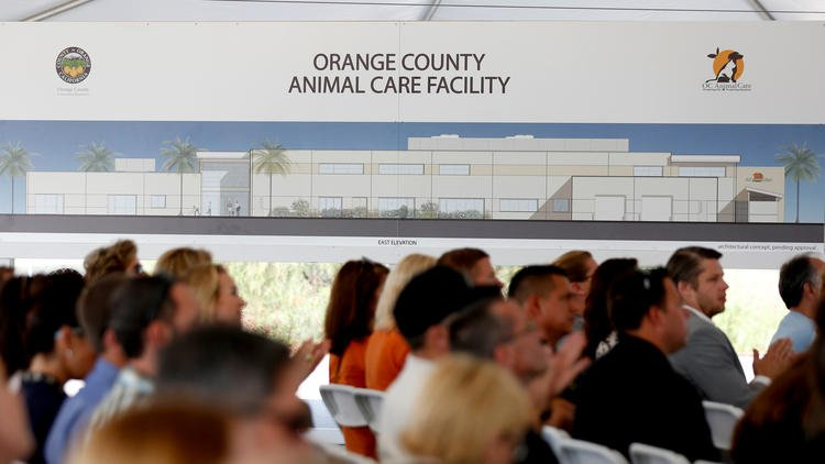 Officials break ground on new O.C. animal shelter, replacing the old one built during WWII