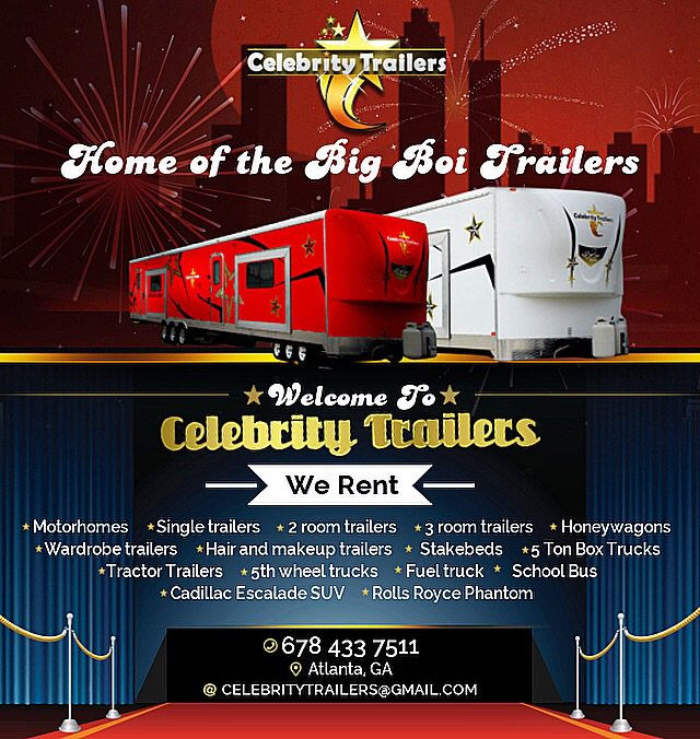 Replying to @DJZONE3ATL: RT Home away from Home for Stars on the Set ! #CelebrityTrailers Now!!! by @BigBoi