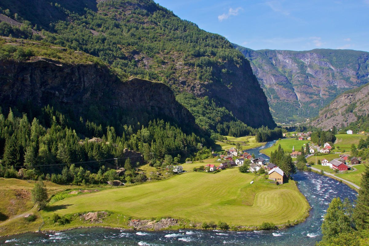 Taking in the Scandinavian countryside by train, bicycle and boat