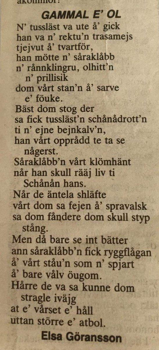 Säger bara: Jämska är ett språk, inte en dialekt!  Hittade detta underbara urklipp! ❤  @Makk_5ive  @JamskaJamtland https://t.co/JWO4DHtWAj