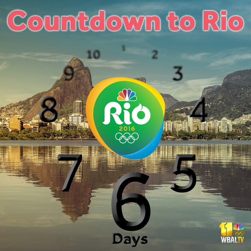 It's the final countdown! Only 6 days til the SummerOlympics in Rio.