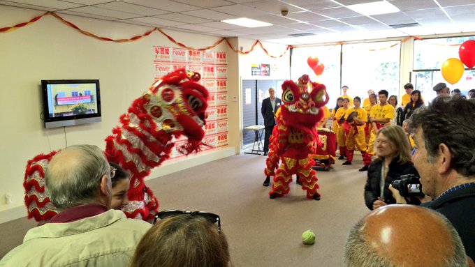 Lion Dancers at Sandra Fewer's headquarter Grand Opening. 7/30/16.