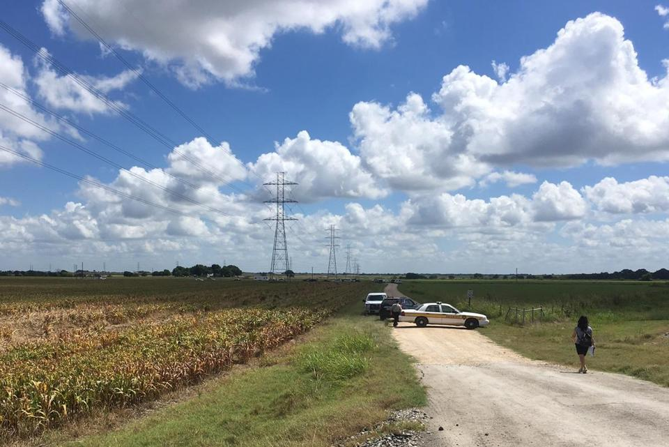 The site of a hot air balloon crash in Texas appears to be under power lines, the AP reports