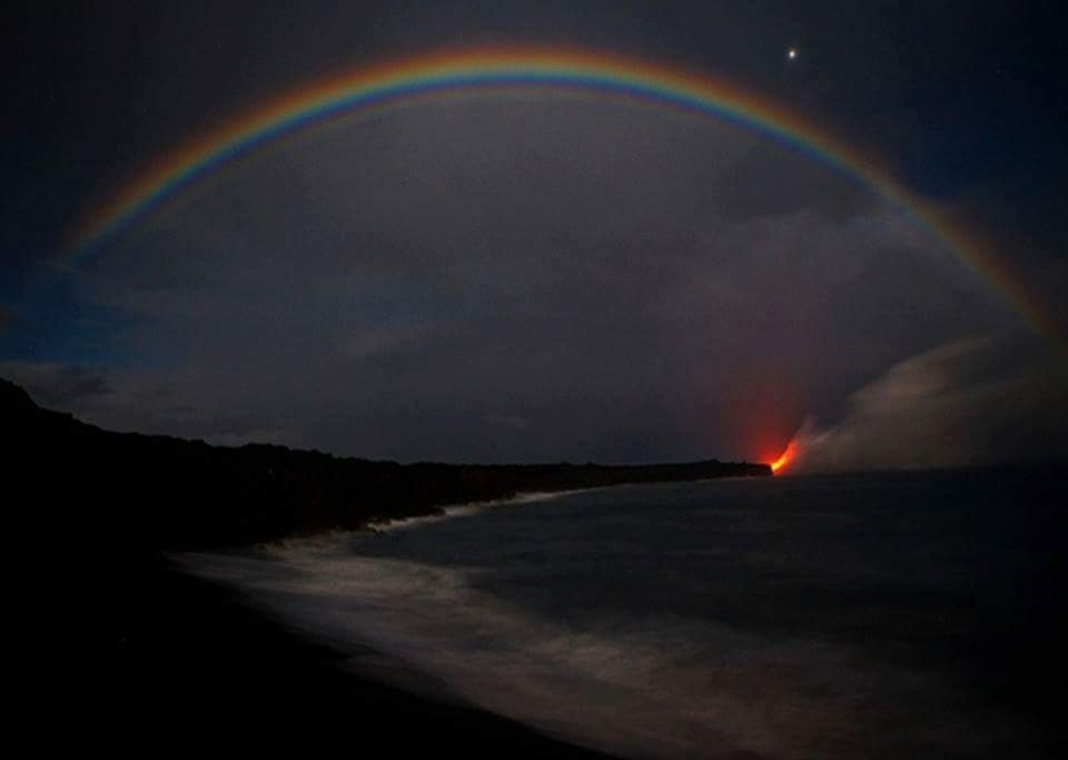 Photo result for Moon-bows appear at night