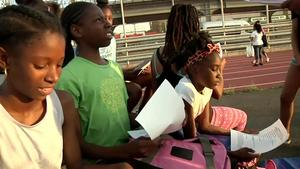 3 sisters living in a homeless shelter compete in JuniorOlympics2016