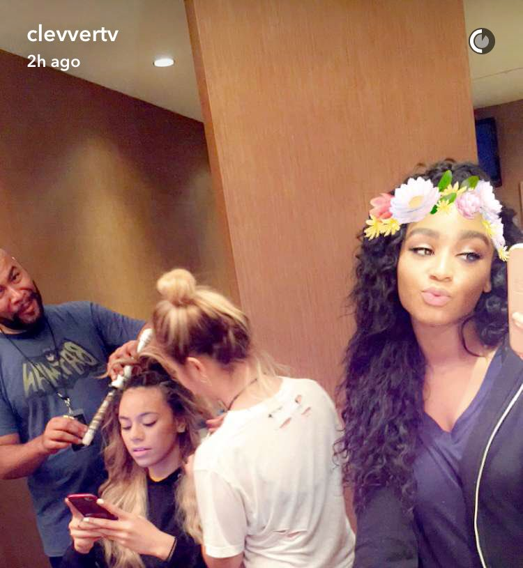 Our 5H girl @NormaniKordei is taking over our Snapchat RIGHT NOW! Check it out: ClevverTV   #727tour @FifthHarmony https://t.co/kaMXKJvx9L