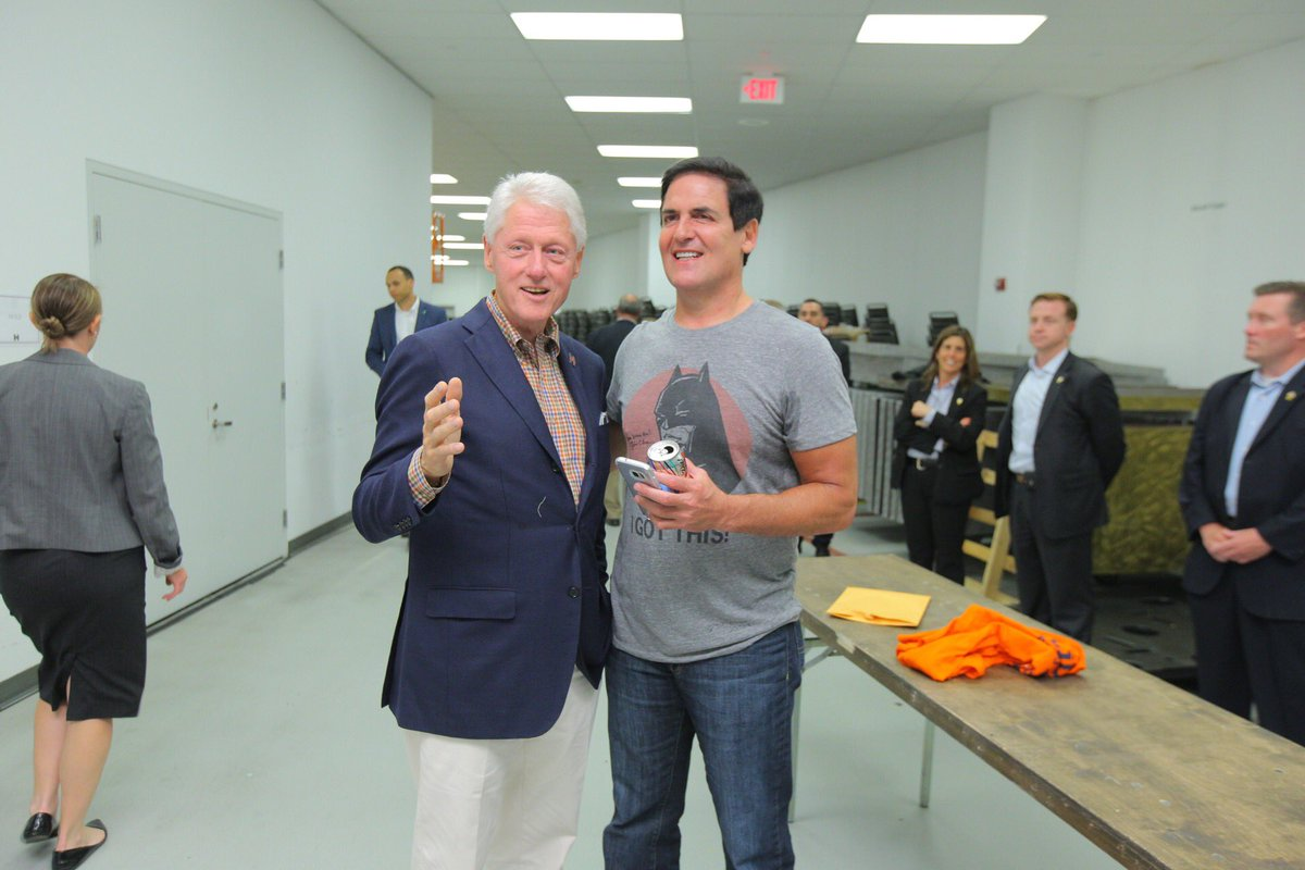 Bill Clinton On Twitter Thanks Mcuban For Your Kind Words Ringing Endort Of Hillaryclinton Here In Hometown Cityofchampions