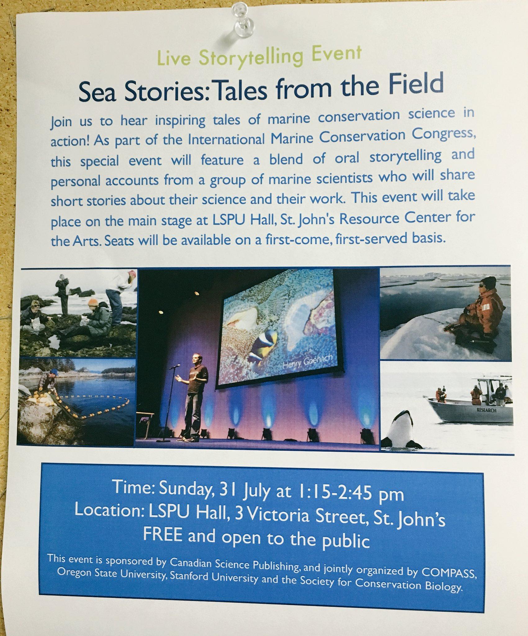 Like oceans, science, & storytelling? Join us July 31 in St John's!  #IMCC4 #IMCCstories #yytevents #nfld https://t.co/z4Fi8frLqx