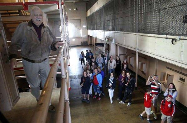Former Alcatraz guard spends 90th birthday on the Rock.