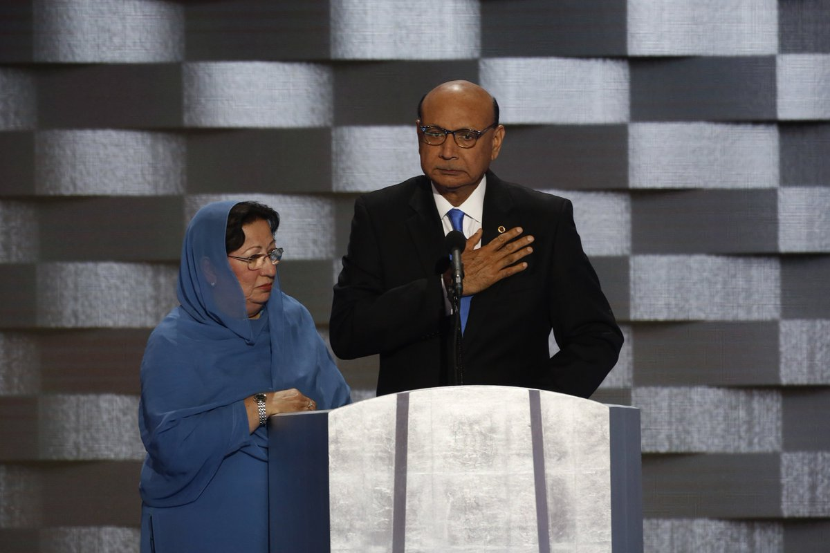 What the father of soldier killed in Iraq said at the DemConvention. Watch the video