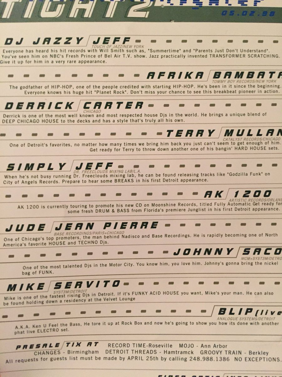 Ghostly on Twitter  Treasures Of The Ghostly Storage Unit #218 Detroit Party Flyers with @mikeservito @Plaslaiko and more.u2026    sc 1 st  Twitter & Ghostly on Twitter:
