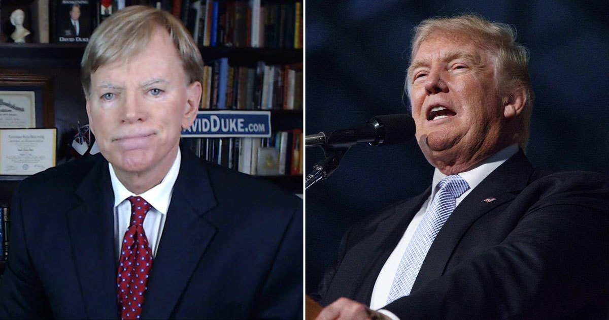 Who could be helped by Donald Trump's rise? Well, former KKK leader David Duke for one