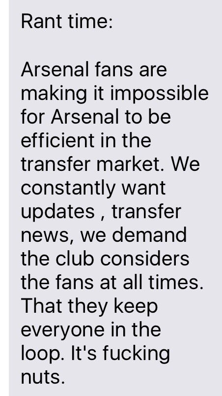 Mate just messaged me this. Can't disagree.. #AFC https://t.co/N9kvw1PxTD