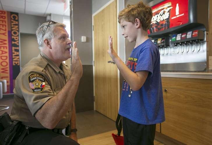 Community shares grief at fundraiser for fallen Travis deputy Sgt. Craig Hutchinson