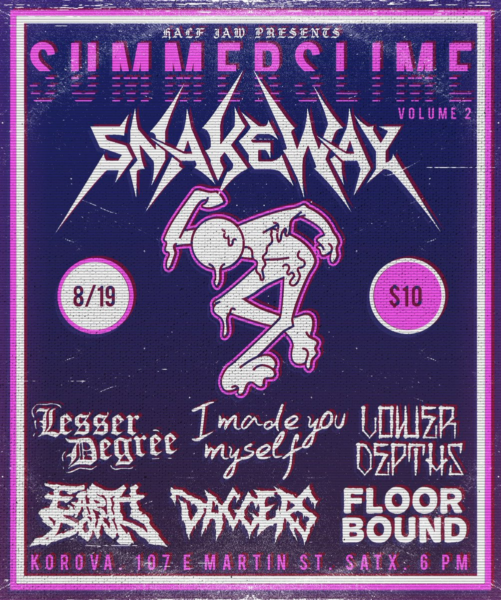 Another show coming to the 210 with bands from CA, MS, & IL. Check it out!