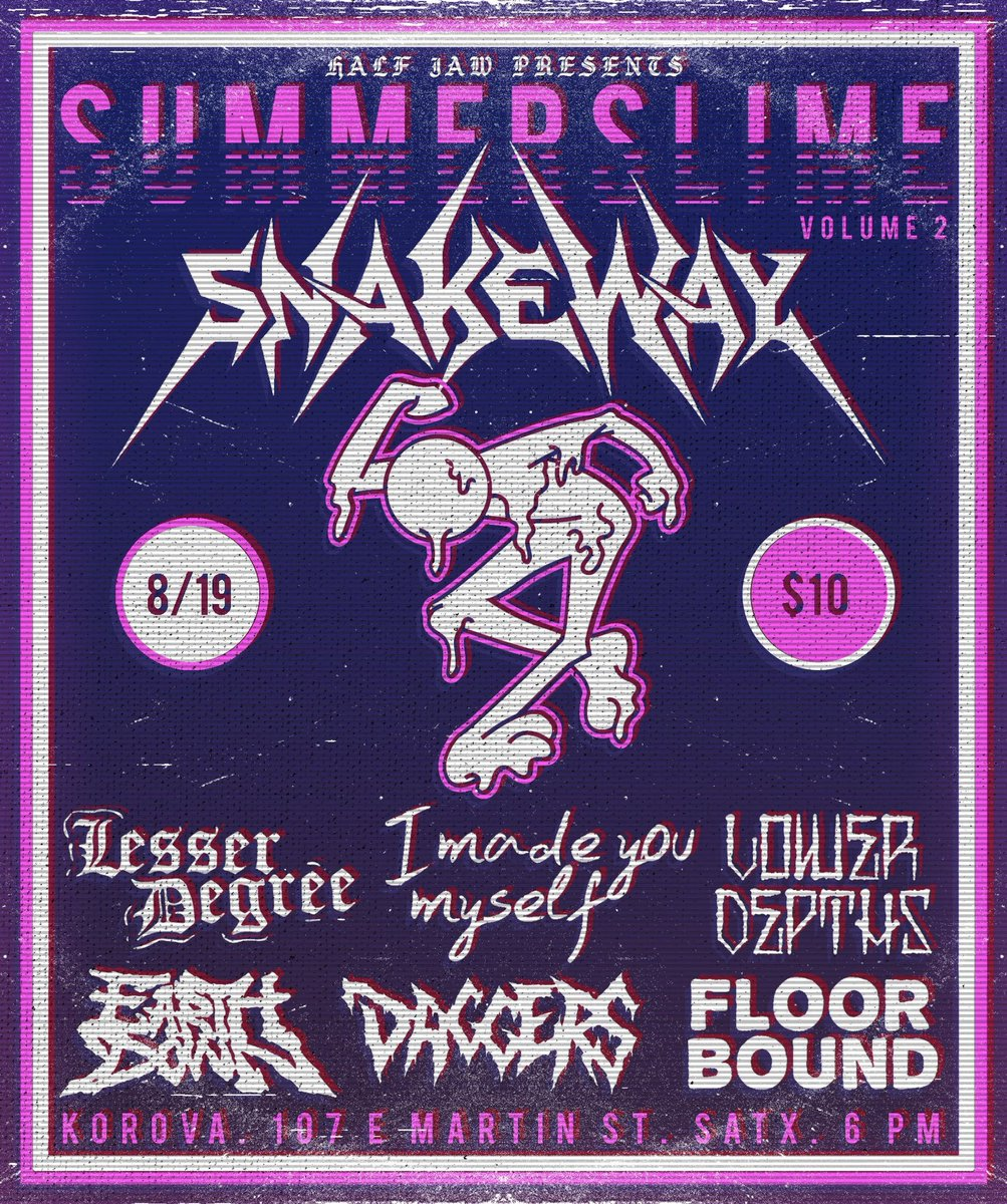 Come thru and see us on our first show with this amazing line up