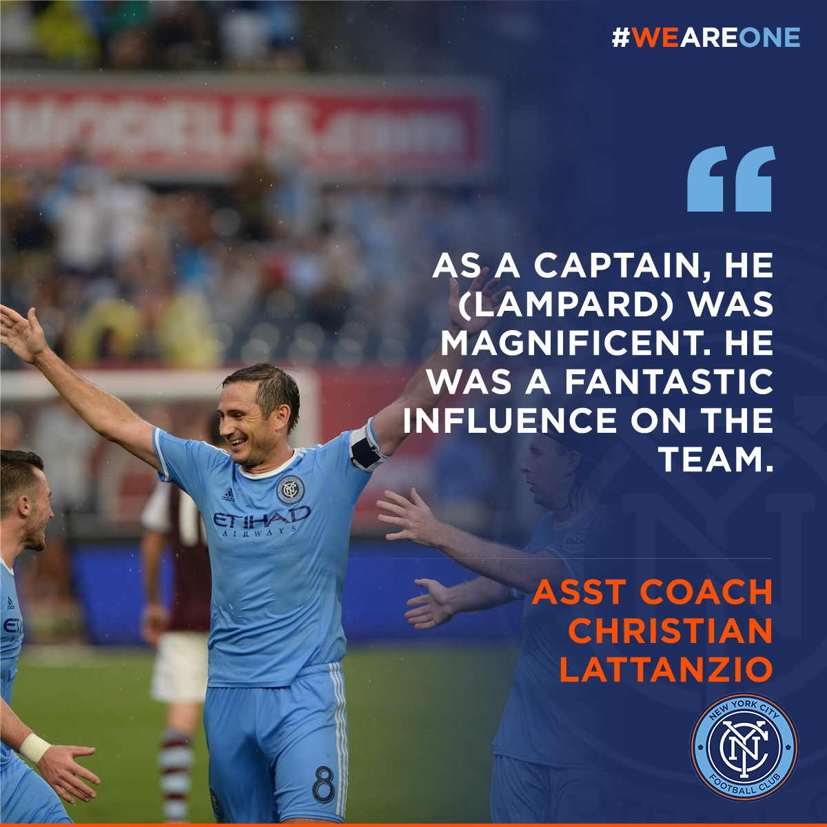 b74e53576 New York City FC ·  NYCFC 2 years. quote of the match assistant coach  christian lattanzio praises today s captain frank lampard