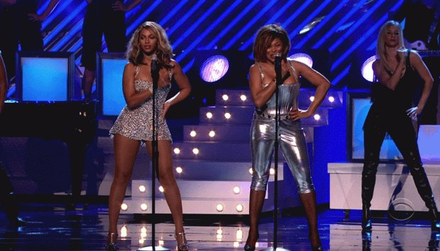Image result for tina turner & beyonce rolling on the river Grammys
