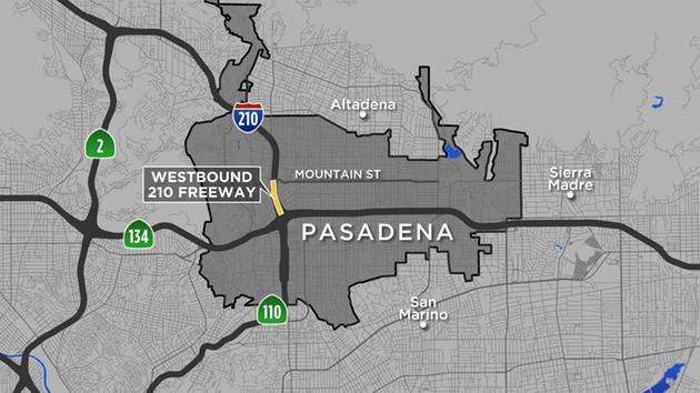 HEADS UP: Stretch of 210 Fwy in Pasadena closed off until Monday morning for road repairs