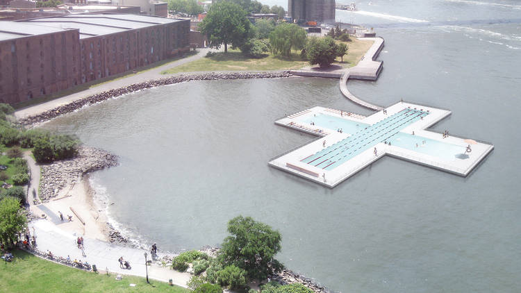 A floating pool coming to the East River