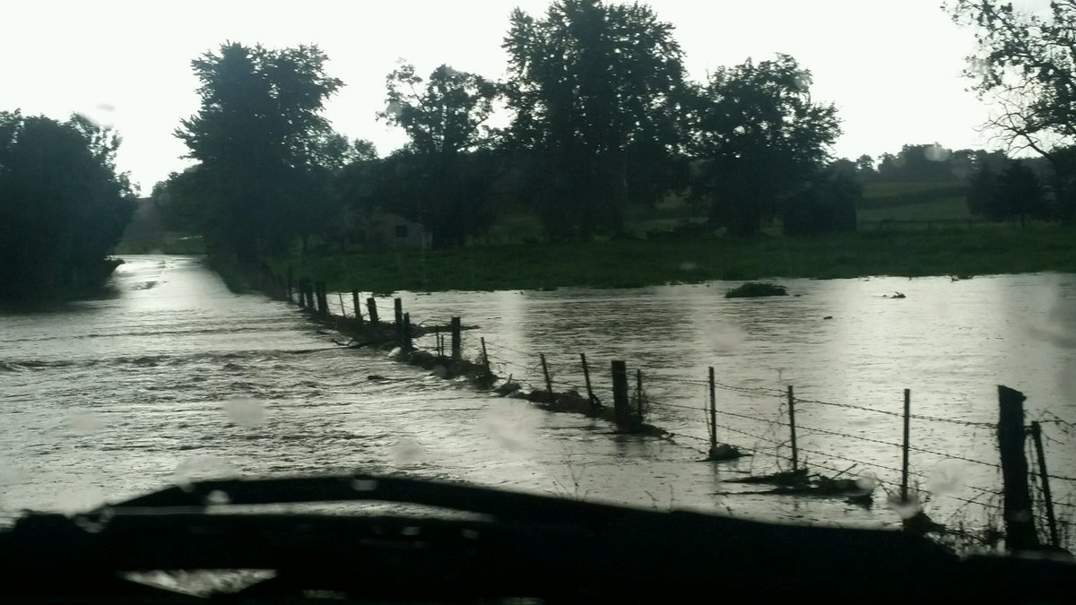 WJZ FIRSTWARNINGWX | Cindy shared this picture of the flooding on Baust Church Rd in Carroll Co. Be safe out there.