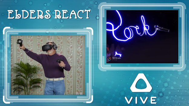 The funniest thing you'll see today: Elderly people react to the HTC Vive