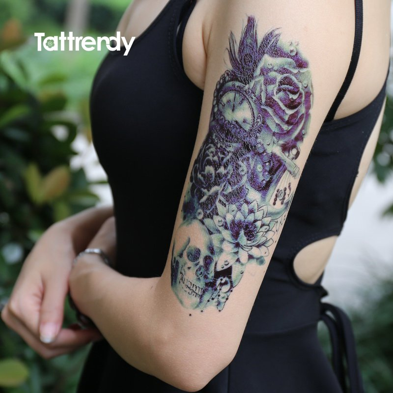 Tattrendy Tattoos On Twitter Death Skull And Rose Design Ink