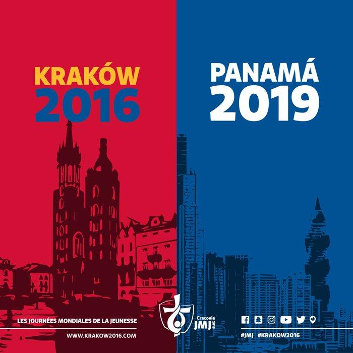 Annonce de @Pontifex_fr : les prochaines JMJ se tiendront au Panama !  #Krakow2016 #CampusMisericordiae #ThanksWYD https://t.co/NGqJZbTBn5