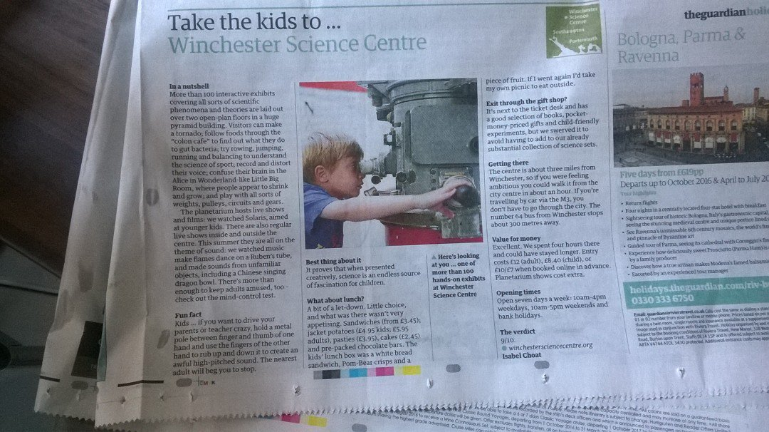 Thank you @guardian for the fantastic review! We are really glad you enjoyed your visit to the Centre! https://t.co/HS4U8CUz1u