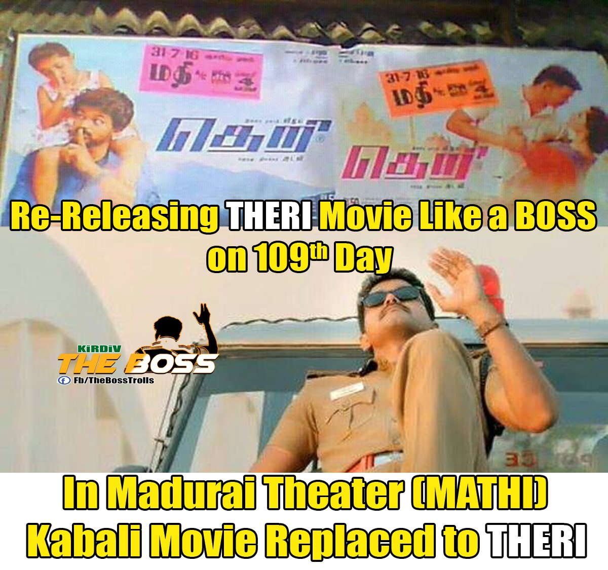 Re-Releasing THERI Movie Like a BOSS on 109th Day