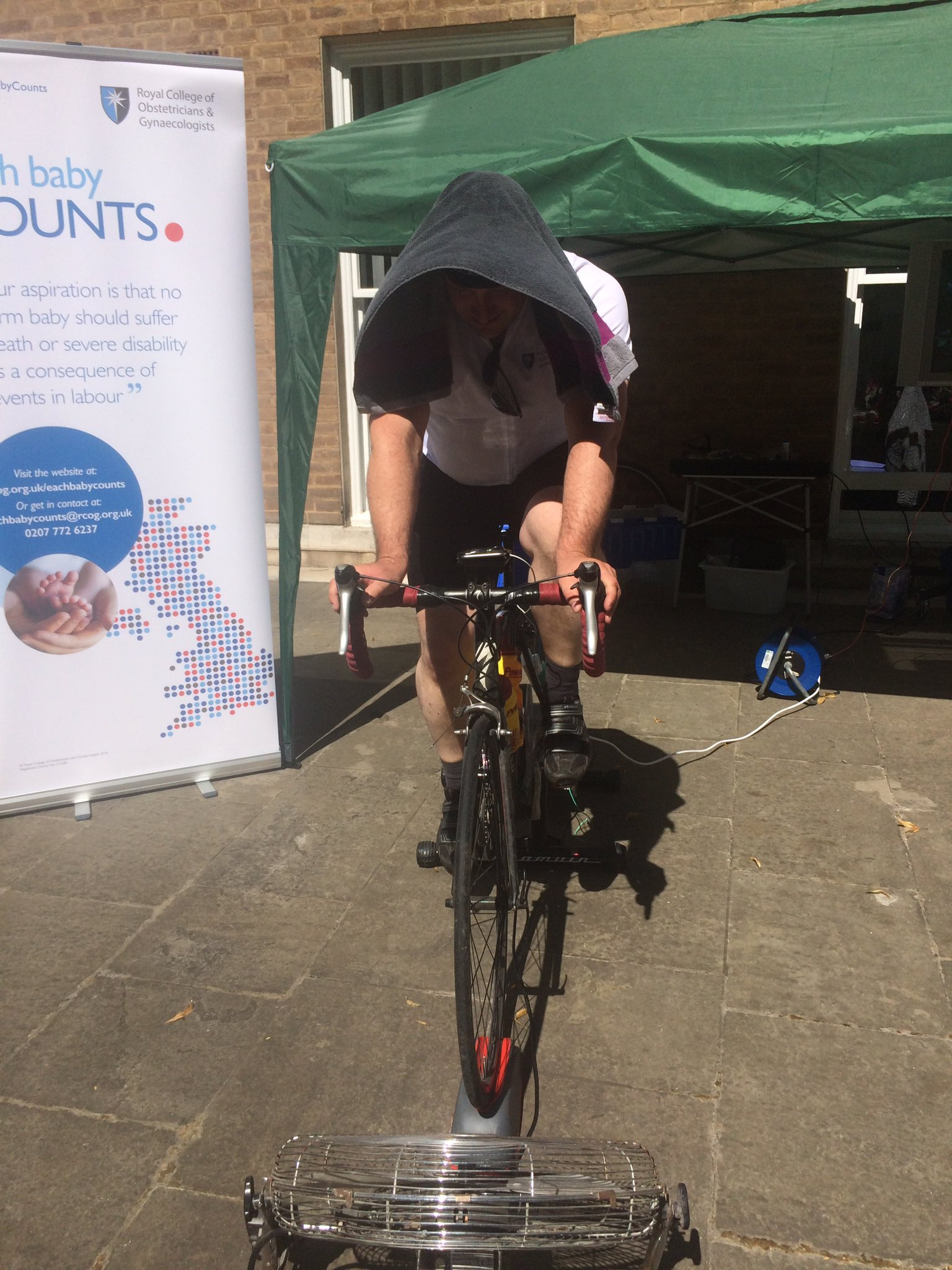 Ed is 46mi into his 100mi #RideLondon static bike challenge for #EachBabyCounts https://t.co/yhVQ5qFrbd https://t.co/Ewgn6cOfij