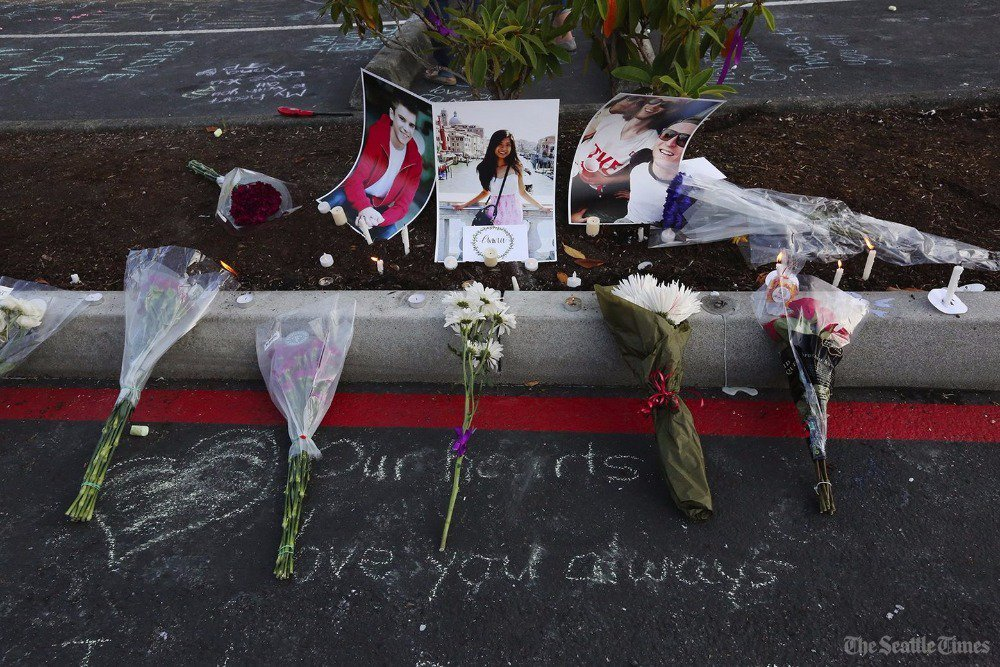 A vigil to honor the 3 victims of the ChennaultShooting is planned for Sunday in Mukilteo
