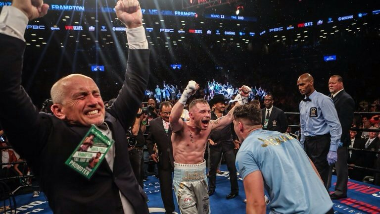 Some man @RealCFrampton . Love Barry's face too https://t.co/e9XJmqQiFf