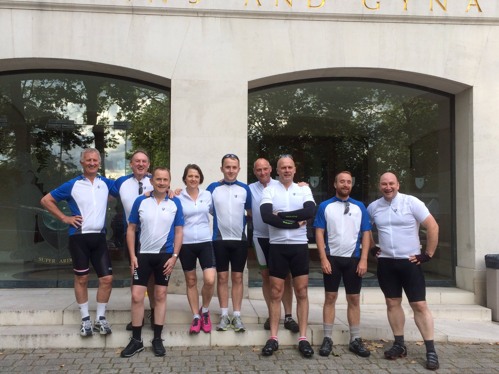 #TeamRCOG looking fresh for their early start this morning, cycling in #RideLondon for #EachBabyCounts https://t.co/YahBSIZAhn