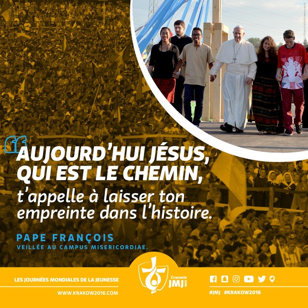 Retrouvez l'intégralité du discours de @Pontifex_fr lors de la veillée de prière #JMJ : https://t.co/5fpLpgdWMC https://t.co/qPlxv6xlK9
