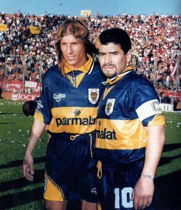 "90s Football on Twitter: ""Claudio Caniggia and Diego Maradona at Boca  Juniors.… """