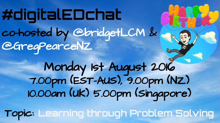 #digitaledchat's turning one! Join us for daring, caring & great sharing. #aussieED #edchatnz #bfc630nz #includEDau https://t.co/kczoGSlC58