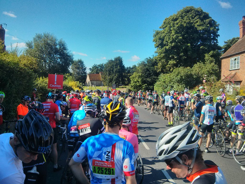 Two cyclists hurt amid RideLondon event chaos