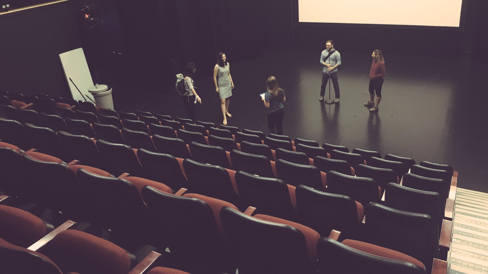 Getting a feel for LPSU Hall before today's #IMCCstories. (Thanks @steph_j_green for bringing Timmy's!) #IMCC4 https://t.co/ES087s9EIP