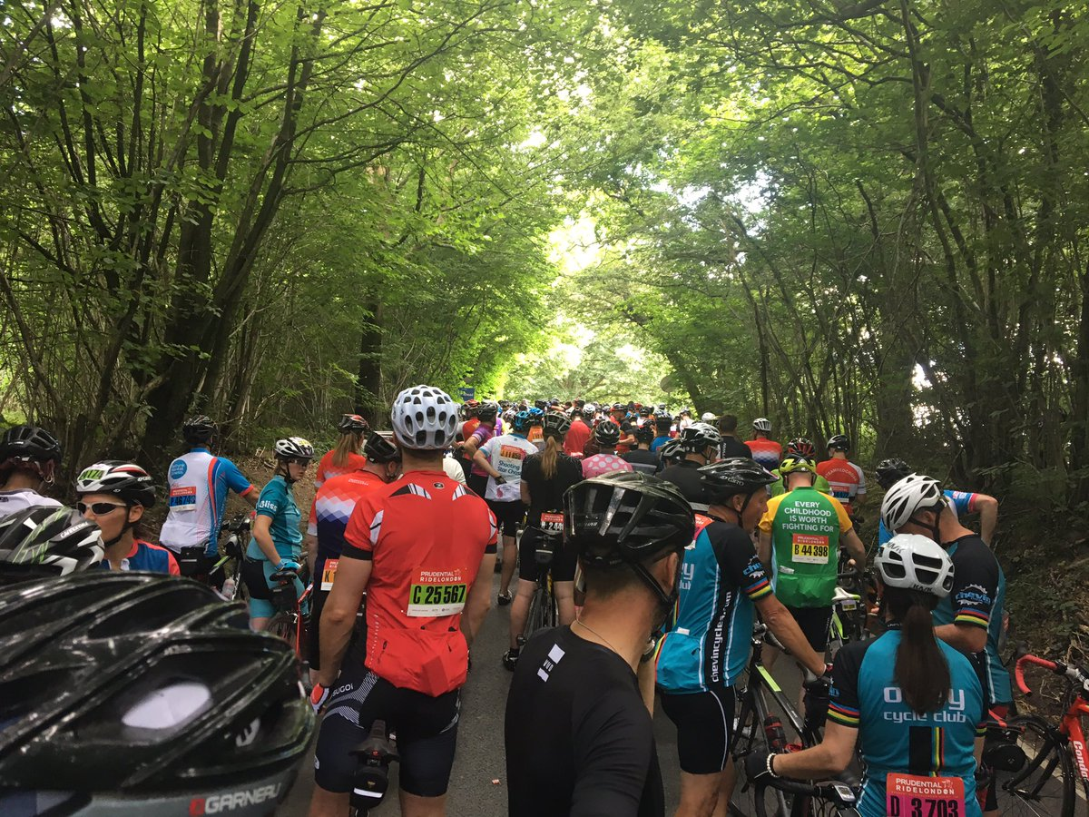 RideLondon: pro race halted and sportive diverted after accidents