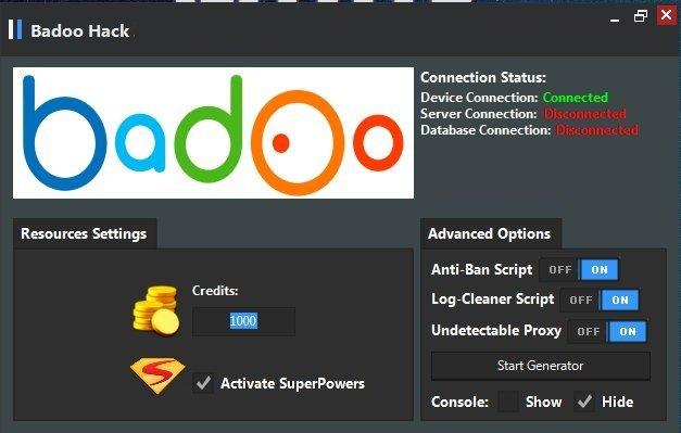 Generator badoo hack Badoo Hack