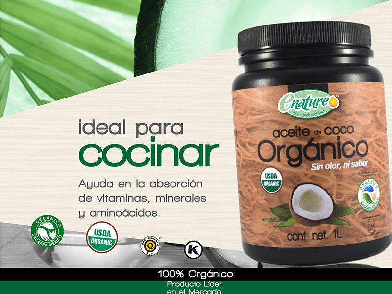 Enature on twitter aceite de coco org nico enature sin for Aceite de coco para cocinar