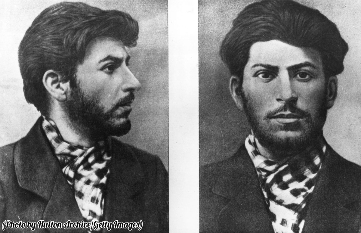 A young Joseph Stalin, taken from a police file.